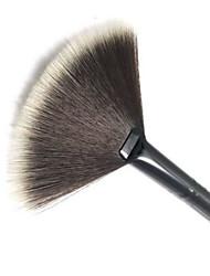 1 Escova Ventoinha Pincel para Pó Pincel para Blush Fibra Sintética Profissional Viagem Ecológico Portátil Plástico Rosto Olhos Lábios
