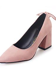 Damen-High Heels-Outddor-PU-Blockabsatz-Komfort-Schwarz Grün Rosa
