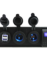 DC 12V/24V led power 3.1A USB port Sockets with rocker switch jumper wires and housing holder