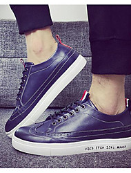 Men's Sneakers Winter Other Leatherette Casual Black White Navy Blue