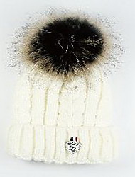 Для женщин Для женщин Винтаж Широкополая шляпа,Трикотаж,Зима