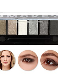 1Pcs  6 Colors Eyeshadow Palette Glamorous Smokey Eye Shadow Makeup Makeup Kit