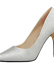 Women's Heels Spring Summer Fall Winter Other Synthetic Wedding Party & Evening Dress Stiletto Heel Gold Sliver