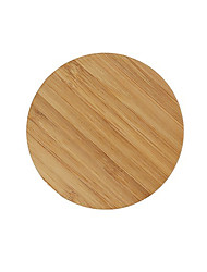 Round Bamboo Qi Wireless Charger Charging Pad For Samsung Galaxy S6 S6 Edge Plus S7 S7 edge Note 5 Note 7 Elephone P9000