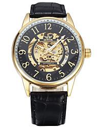 Муж. Спортивные часы Модные часы Наручные часы Механические часы Механические, с ручным заводом Натуральная кожа Группа Винтаж