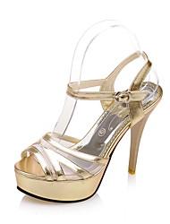 Homme-Mariage Habillé Soirée & Evénement-Rose Argent Or-Talon Aiguille-Confort Bride de Cheville club de Chaussures-Sandales-Polyuréthane