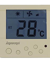 White Air-conditioning Thermostat to Warm The Thermostat