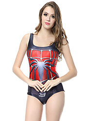2017 New Spider Man Digital Print Swimsuit