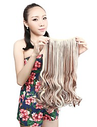 1Pcs 110g 20'' Clip in on Synthetic Hair Weft Extensions Curl Wavy Hair Pieces F12/613#