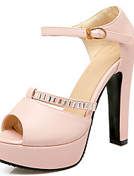 Women's Shoes Chunky Heel Peep toe Ankle Strap Pump More Color Available