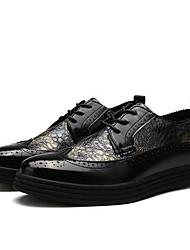 Herren-Sneaker-Lässig-WildlederKomfort-Schwarz Gold