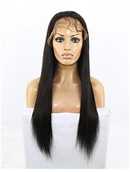 2017 novo estilo 360 peruca cabelo virgem humana cor natural Remy peruca reta com cabelo do bebê