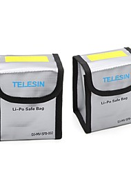 TELESIN Pack of 2 Lipo Safety Guard Fire Resistant Lipo Battery Safe Bag for DJI Phantom 3 Phantom 4 Battery Charging & Storage