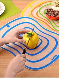 Cutting Board Antibacterial Mildew Classification Chopping Blocks Cut Fruit Board Transparent Health Cutting Mat Creative Kitchen Gadgets Color Random