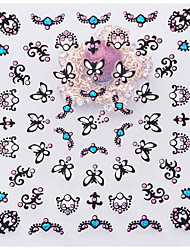 1sheet  Lace Butterfly Totem Love Nail Sticker