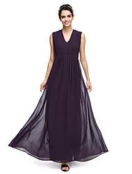 LAN TING BRIDE Ankle-length V-neck Bridesmaid Dress - Elegant Sleeveless Georgette