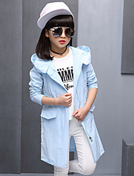 Girl Casual/Daily Print Jacket & Coat,Cotton Rayon Summer Spring Long Sleeve