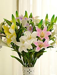 1 Ast PU Lilien Tisch-Blumen Künstliche Blumen 79*15*15