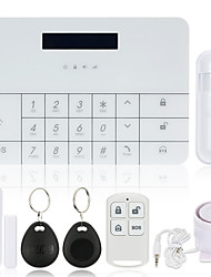 2017 new Safearmed Wireless GSM Alarm System LCD GSM&SMS RFID Touch Keyboard Home House Security Burglar Intruder Alarm System Auto Dialer