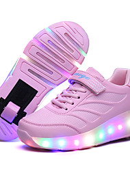 Kids Boy Girl's Wheelys Roller Skate Shoes / Ultra-light Single Wheel Skating LED Light Shoes / Athletic / Casual Fahion LED Shoes Pink Black Blue