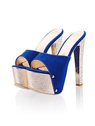Damen-Sandalen-Kleid Party & Festivität-PU-Stöckelabsatz-Komfort Fersenriemen-Gold Silber Rose Rosa Blau