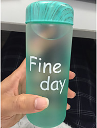 Frosted Cartoon To-Go Outdoor Drinkware, 320 ml Leak-proof Glass Juice Water Novelty Drinkware Tumbler
