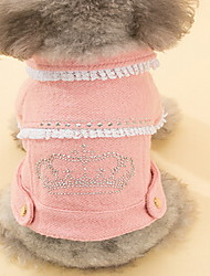 Dog Coat Brown Dog Clothes Winter Polka Dots Cute