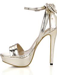 Mujer-Tacón Stiletto-Confort-Sandalias-Boda Vestido Fiesta y Noche-PU-Plata Oro