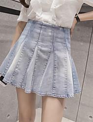signe 2017 dernière mode sauvage lavé jupe denim jupes hangars