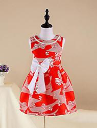 Girl's Floral Dress,Cotton Summer All Seasons Spring Sleeveless