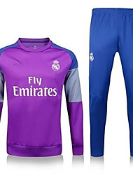 Unisex Soccer Clothing Sets/Suits Breathable Comfortable Summer Solid Terylene Football/Soccer Blue Purple