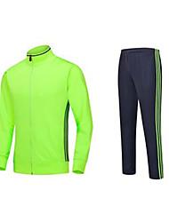 Unisexe Football Ensemble de Vêtements/Tenus Respirable Confortable Eté Couleur Pleine Térylène FootballVert Rouge Bleu Foncé Bleu Ciel