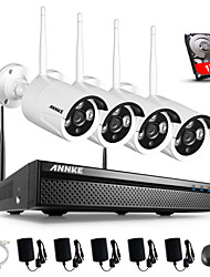 ANNKE 960P 1.3MP cameras 4CH Network NVR Wireless Home Security IP Camera System 1TB
