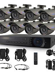 YanSe® 8CH AHD DVR KIT 720P CCTV Camera IR 36LED Bullet Waterproof Wired Security System