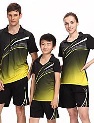 Unisex Short Sleeve Tennis Clothing Sets/Suits Shorts Breathable Comfortable Red Black Blue Black Badminton M L XL XXL XXXL XXXXL