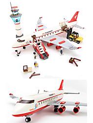 Blocs de Construction Pour cadeau Blocs de Construction Maquette & Jeu de Construction Avion ABS 2 à 4 ans 5 à 7 ans 8 à 13 ans Rouge