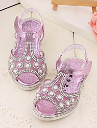 Girl's Sandals Comfort Leather Outdoor Casual Athletic Purple Gold Running