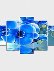 Stretched Canvas Print Landscape Floral/Botanical Modern ClassicFive Panels Canvas Any Shape Print Wall Decor For Home Decoration