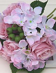 1 Ramo Plástico Outras Rosas Flores artificiais 20*20*25