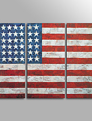 Canvas Print Famous American Flag Still Life ClassicThree Panels Canvas Horizontal Print Wall Decor For Home Decoration