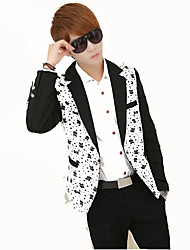 Inspired by CosplayMens Bachelor Party Suit Funny Costume Novelty  Jacket Tops/Bottoms Polka Dot White Black Long Sleeve Coat For Male