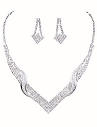 The New Angel Wings Series Crystal Necklace Set