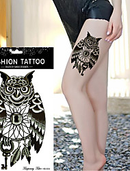 5Pc  Owl Temporary Tattoo Hand Painted Realistic Owl Tattoo Stickers Women And Man Waterproof Tattoo Stickers