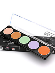 Color Salon 5 Colors Concealer Palette cream face highlighter makeup pores invisible