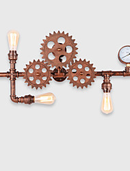 Vintage Industrial Pipe Wall Lights Wood Helm Shape Creative turnable Lights Restaurant Cafe Bar Decoration lighting