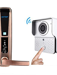 ACTOP Wireless Video Intercom Doorbell Fingerprint Lock Set Ding Dong Anti-Theft Doorbell