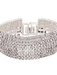 Feminino Tênis Pulseiras Zircão imitação de diamante Liga Moda Jóias Branco Dourado Jóias 1peça
