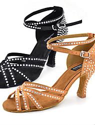 Maßfertigung-Maßgefertigter Absatz-Kunstleder-Latin Jazz Salsa Swing Schuhe-Damen