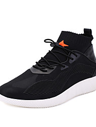 Men's Sneakers Spring Fall High-top Fabric Casual Flat Heel Gore Walking