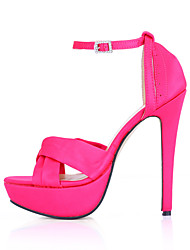 Women's Sandals Summer Comfort Silk Wedding Party & Evening Dress Stiletto Heel Black Pink Ivory